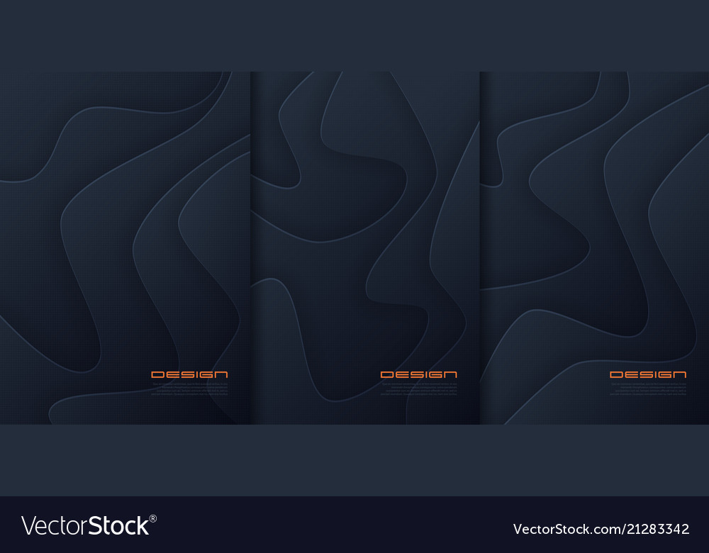 Abstract paper cut wavy backgrounds
