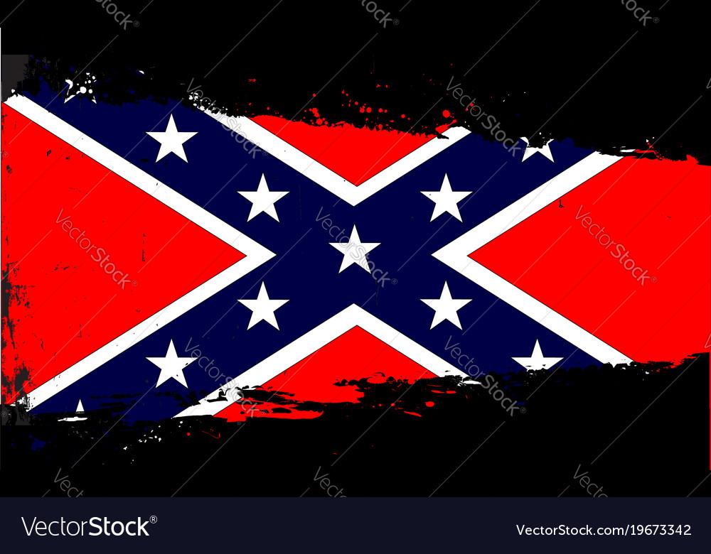 Confederate flag splash