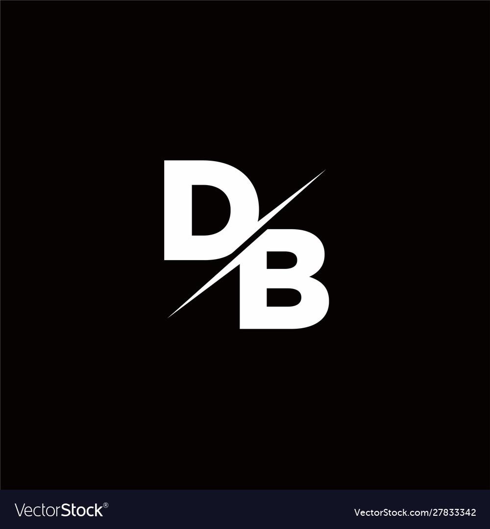 Db logo letter monogram slash with modern logo