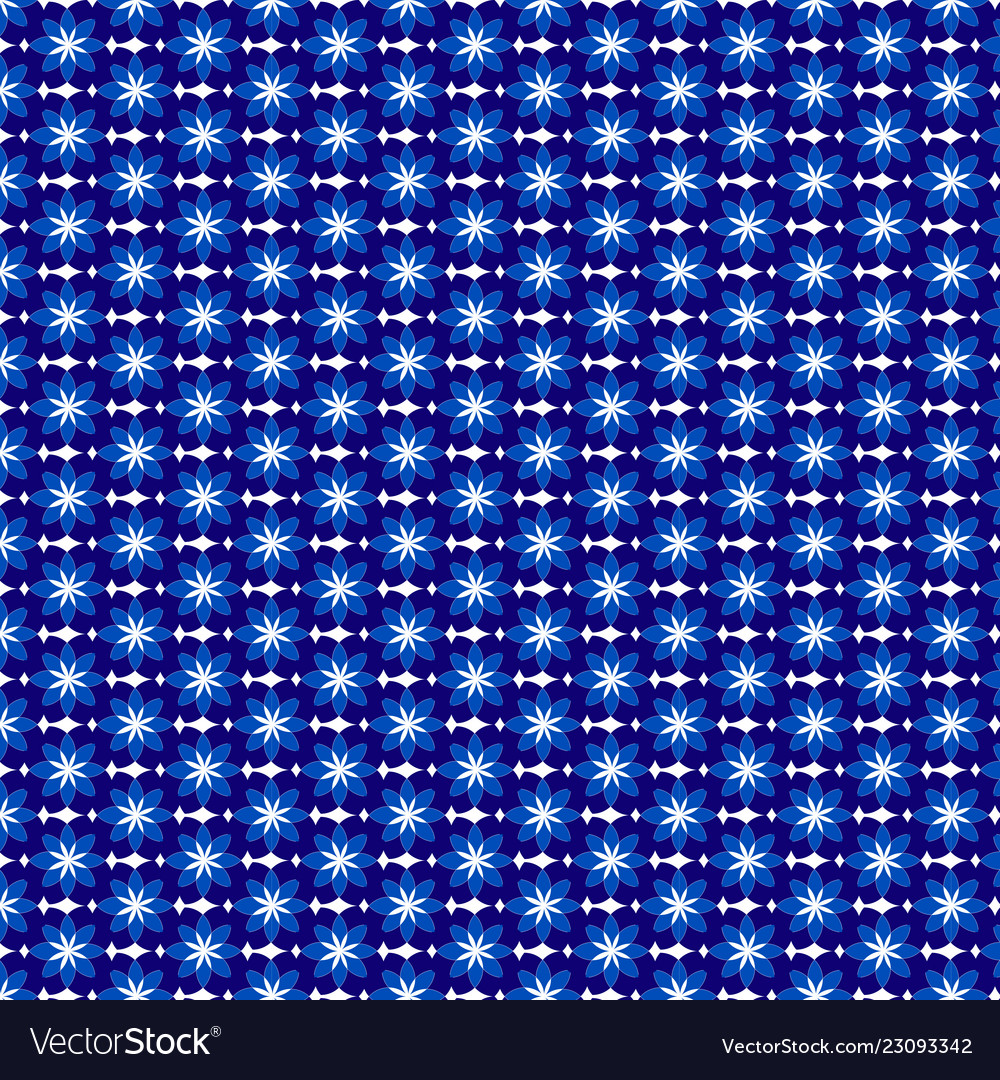 Floral pattern white and blue flowers for