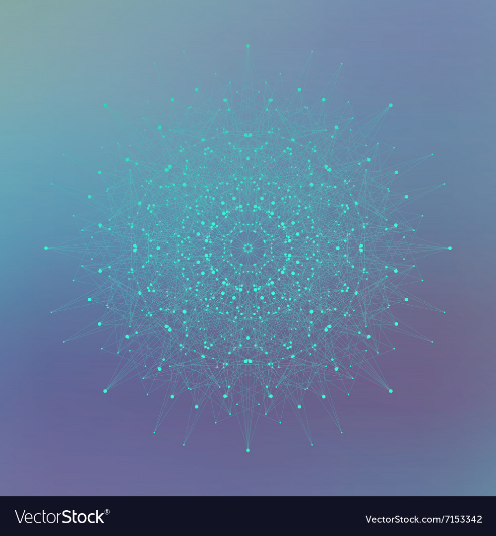 Geometric abstract form with connected line and