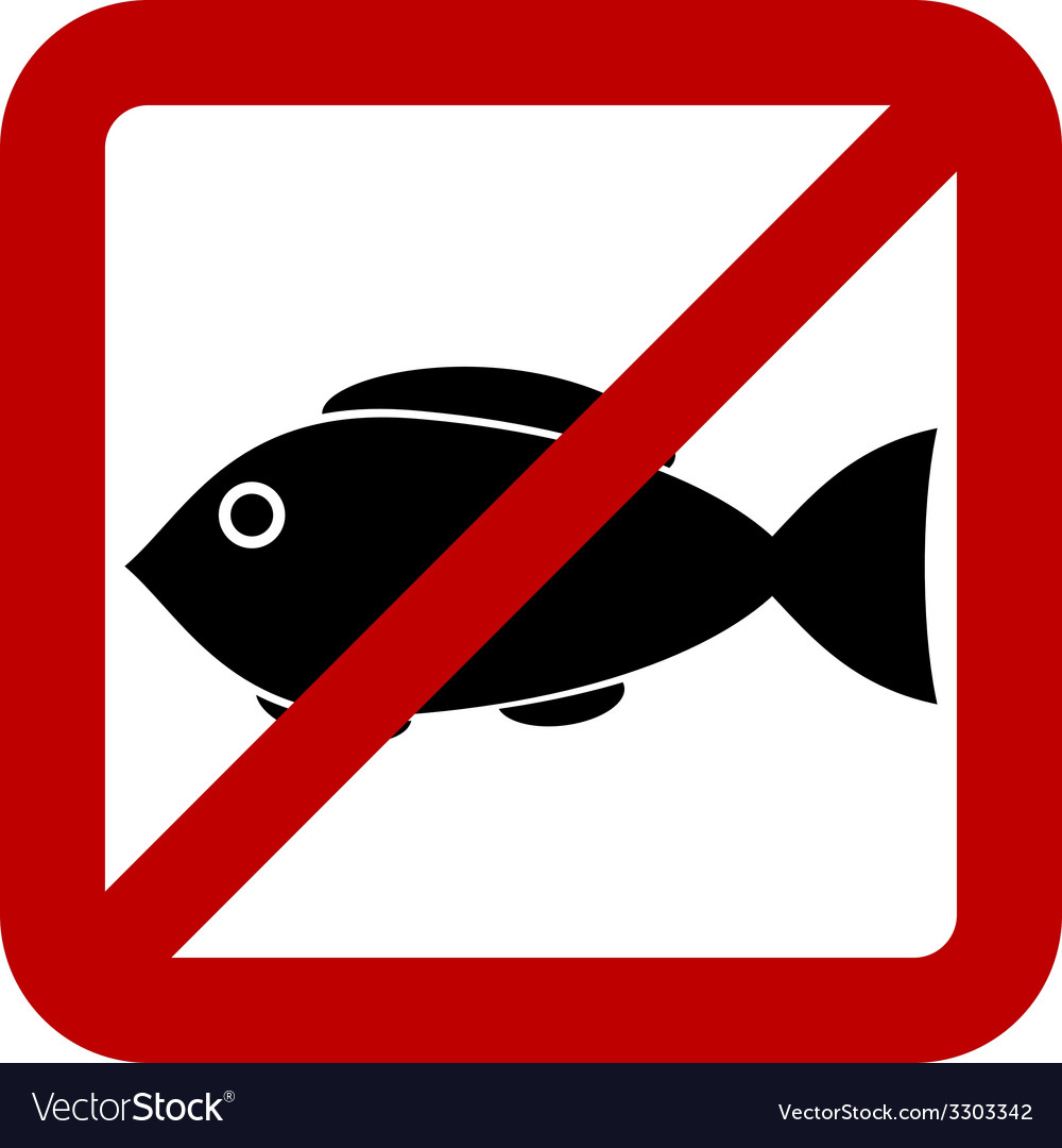 Sign of prohibited fishing Royalty Free Vector Image