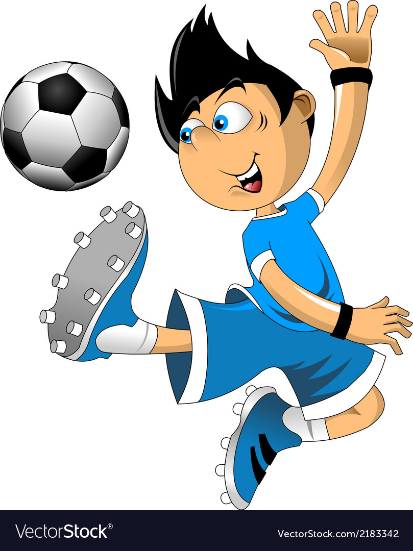 soccer players cartoon royalty free vector image