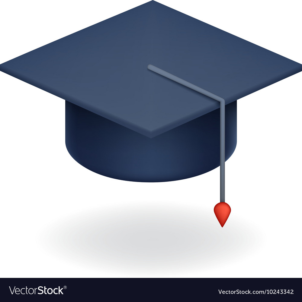 University Graduation Cap Icon Student Education