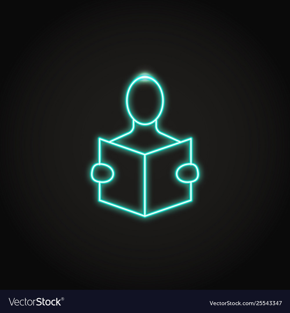 Education concept icon in neon line style