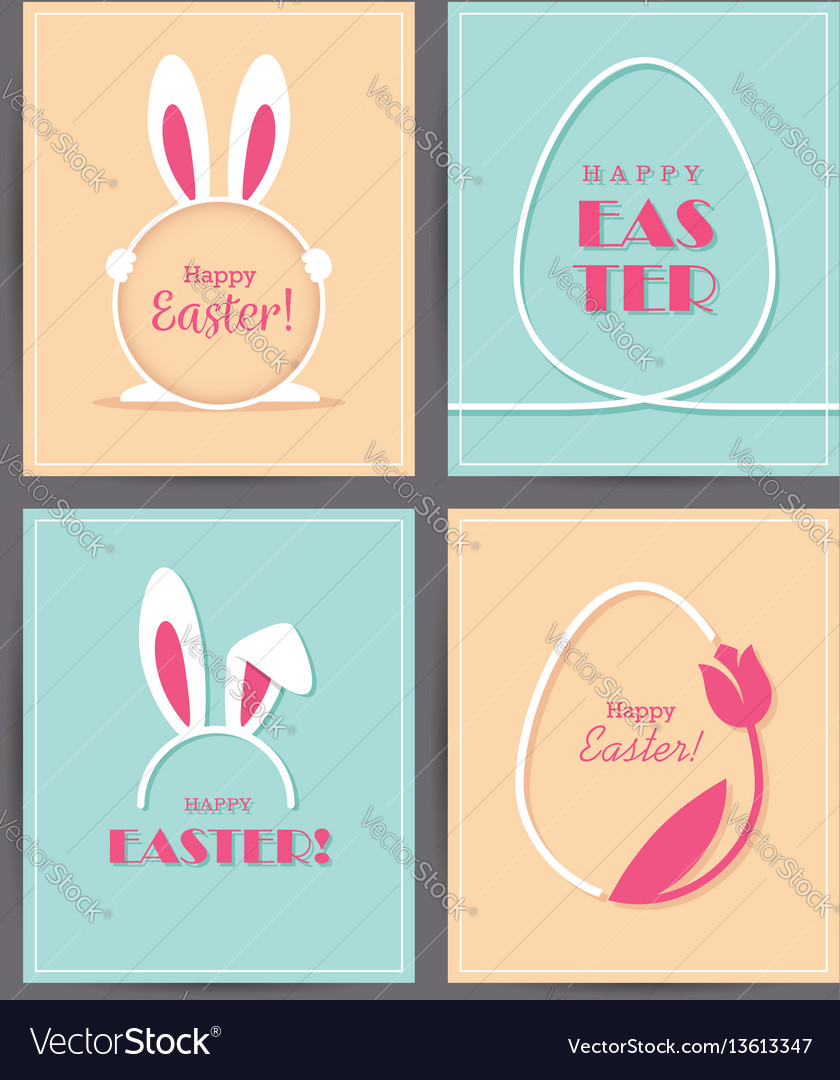 Four easter greeting cards