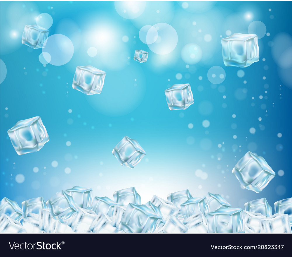 Ice cube abstract background