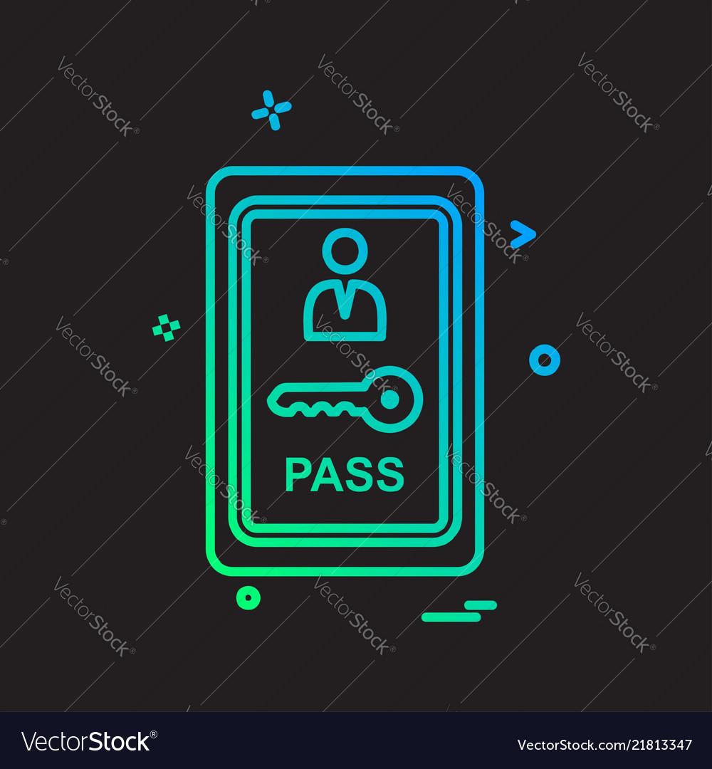 Room key icon design