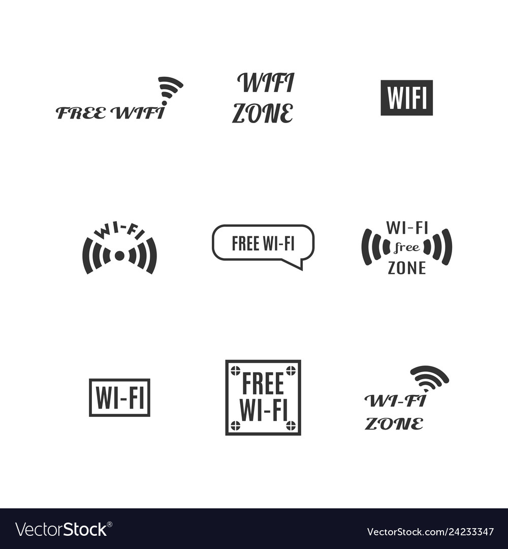 Set of wireless icons