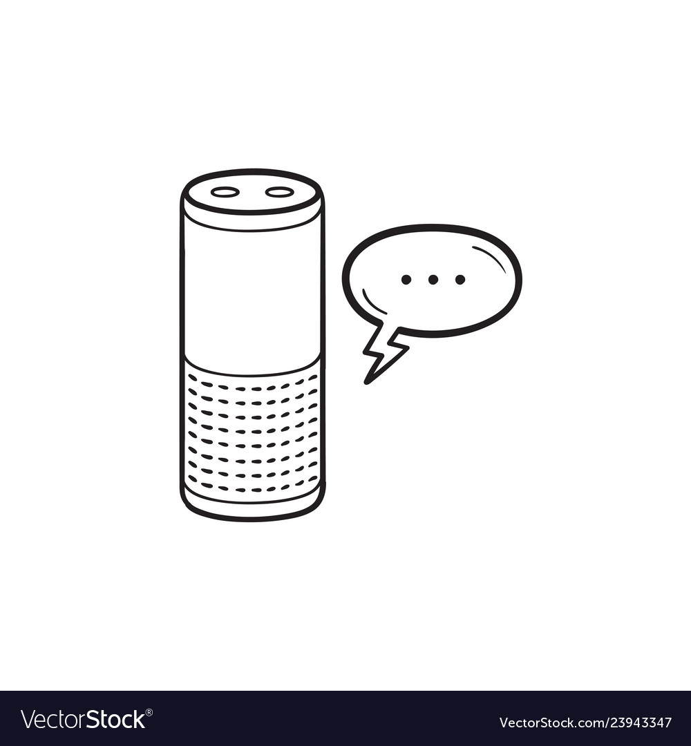 Smart speaker hand drawn outline doodle icon