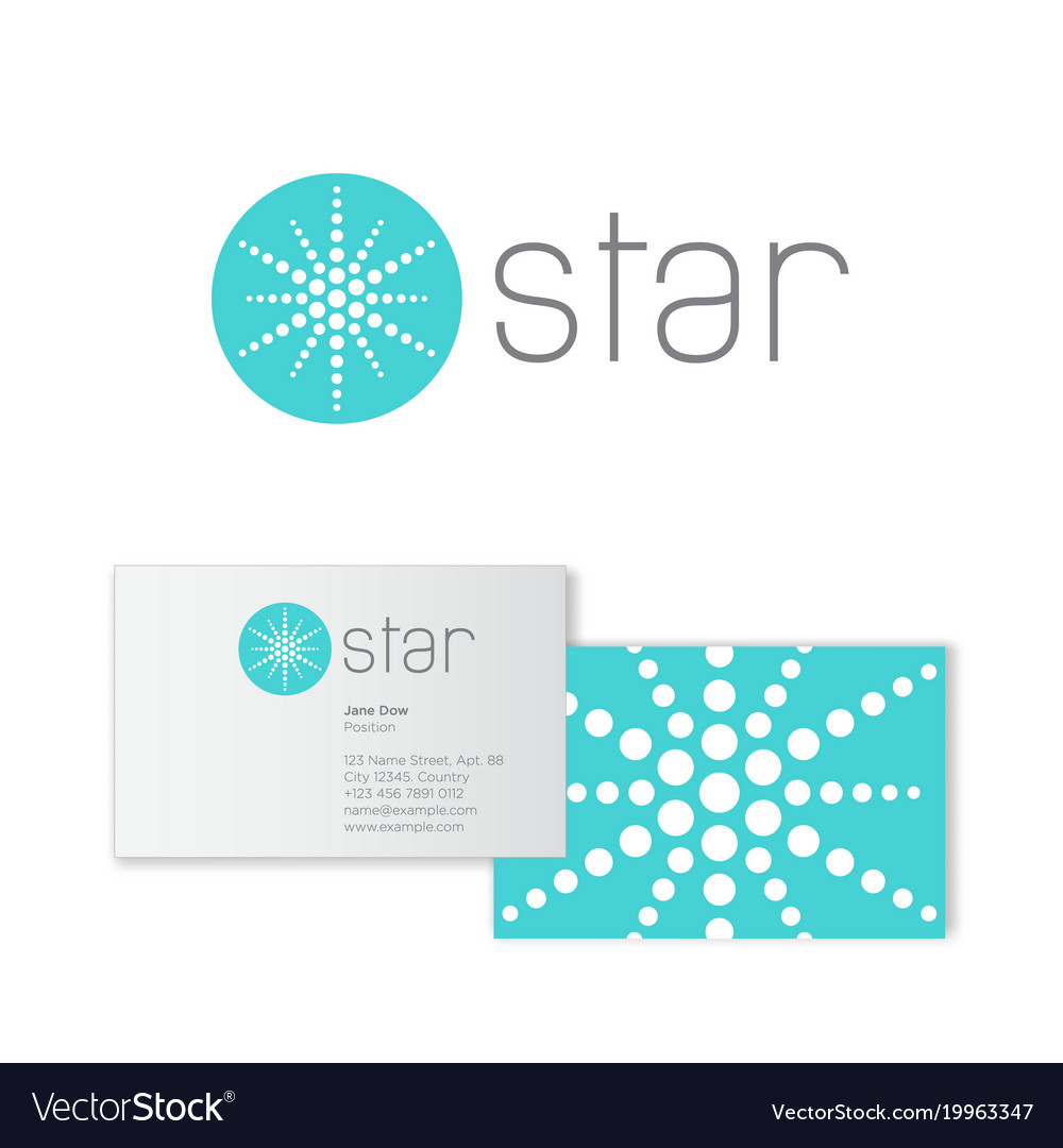 Star logo abstract emblem business card royalty free vector star logo abstract emblem business card vector image reheart Images