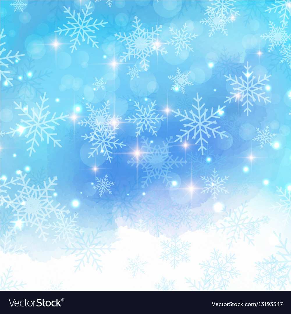 Watercolor snowflake background 1111