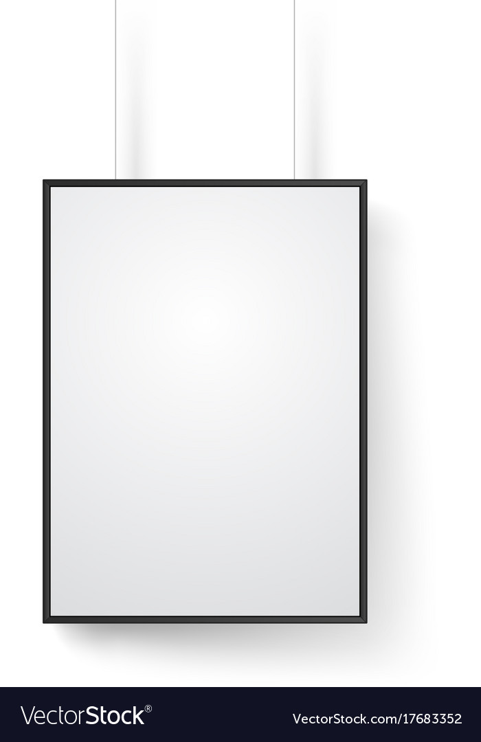 Blank white frame on the wall mockup isolated on Vector Image