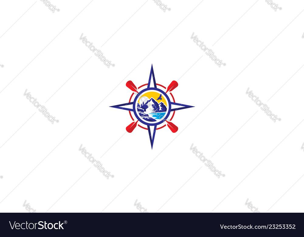 Compass outdoor logo icon