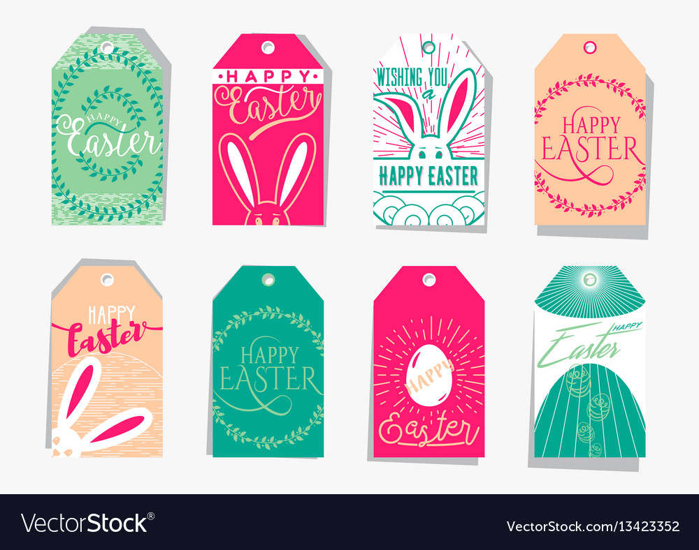 Easter gift tag set with