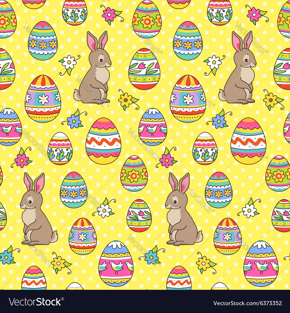 Easter pattern yellow bunny