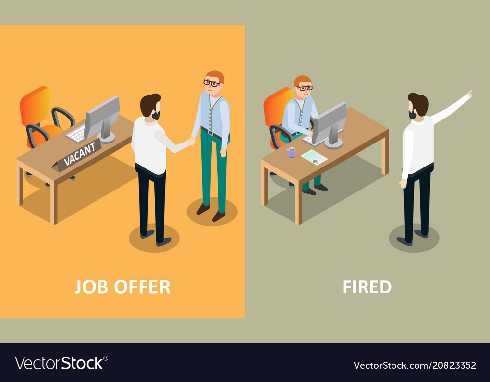 Job offer and fired concept design elements
