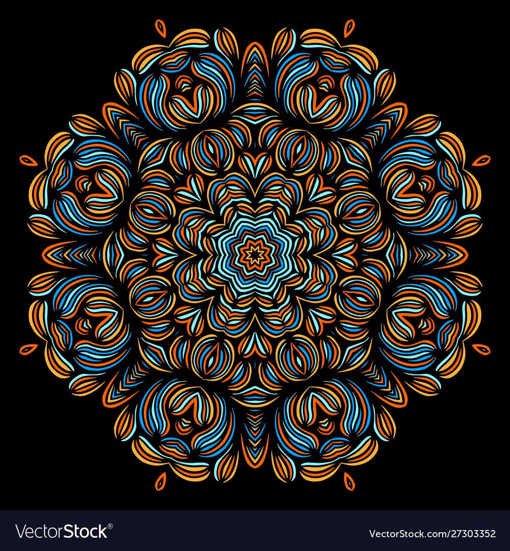 Vintage decorative elements with oriental pattern