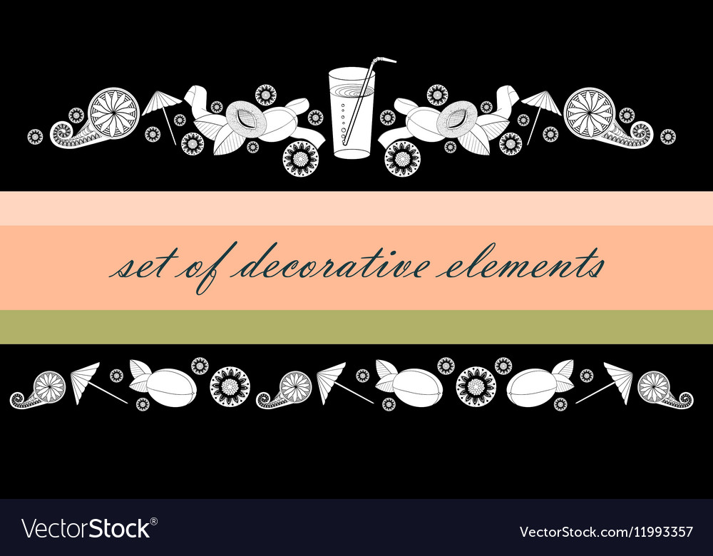 A straw apricots and abstract flowers vector image