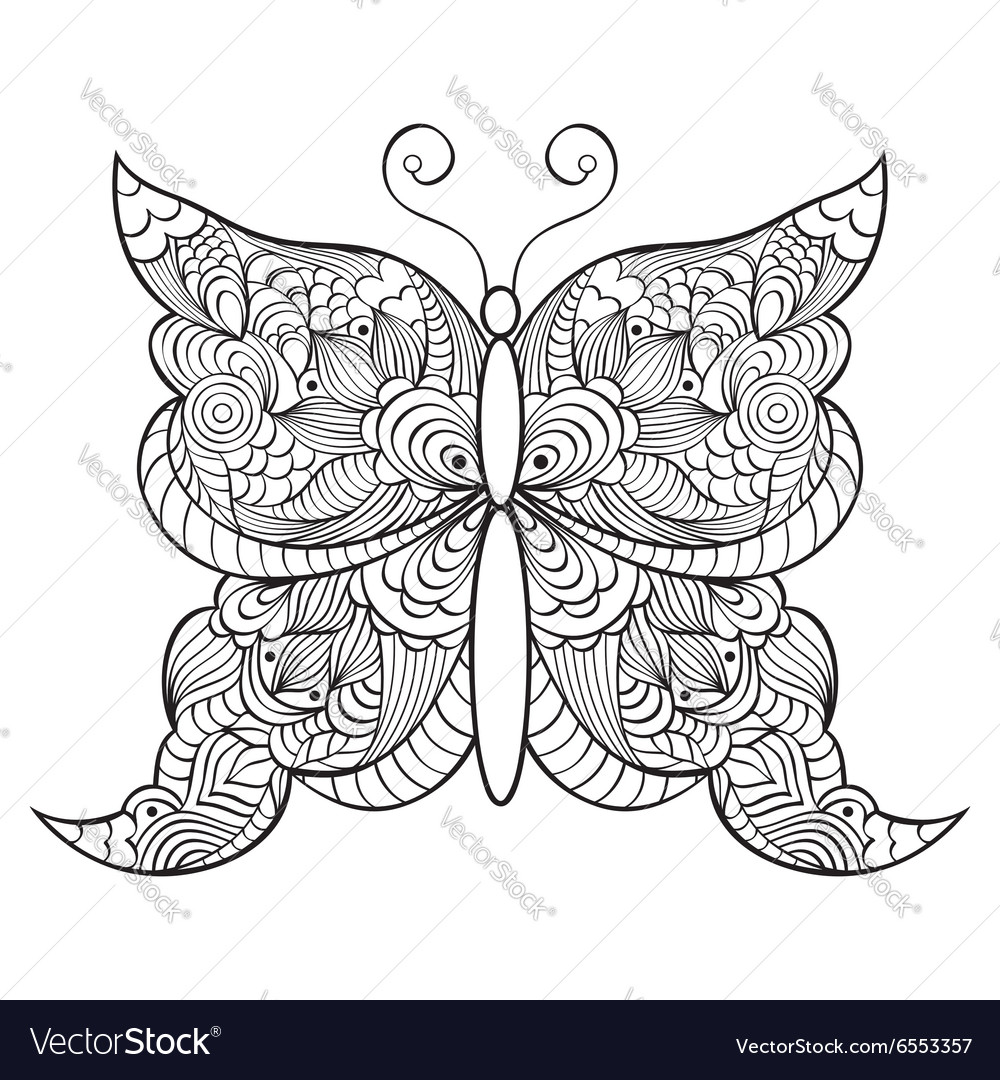 Abstractbutterfly on white background