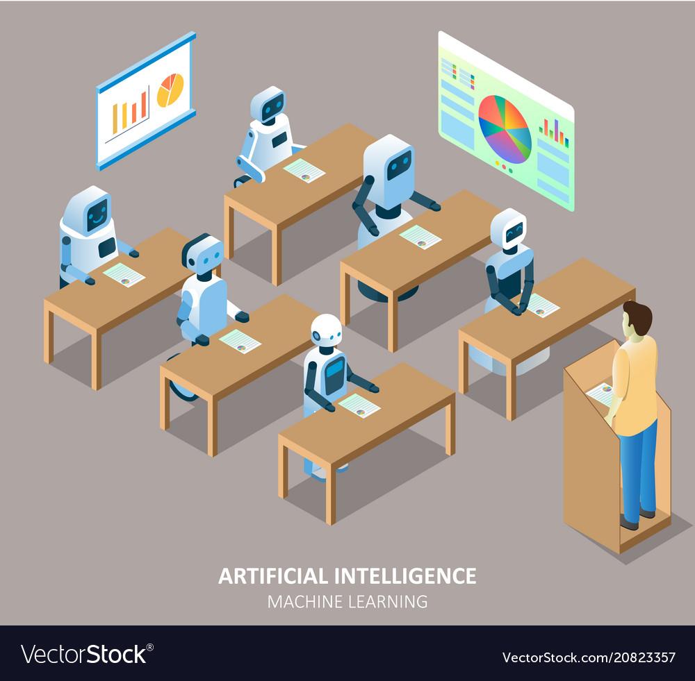 Ai machine learning isometric