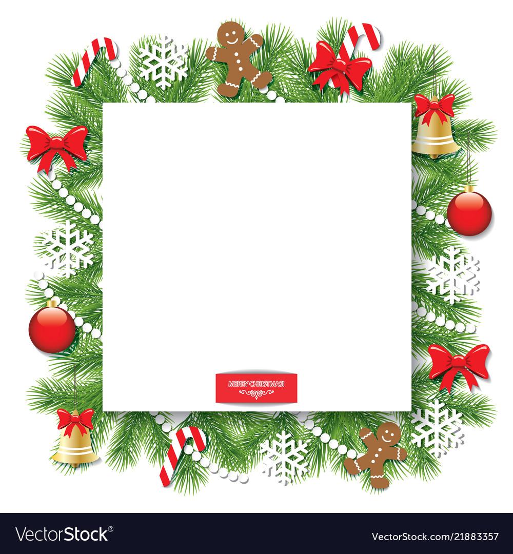 Christmas Frame.Christmas Decorative Square Frame