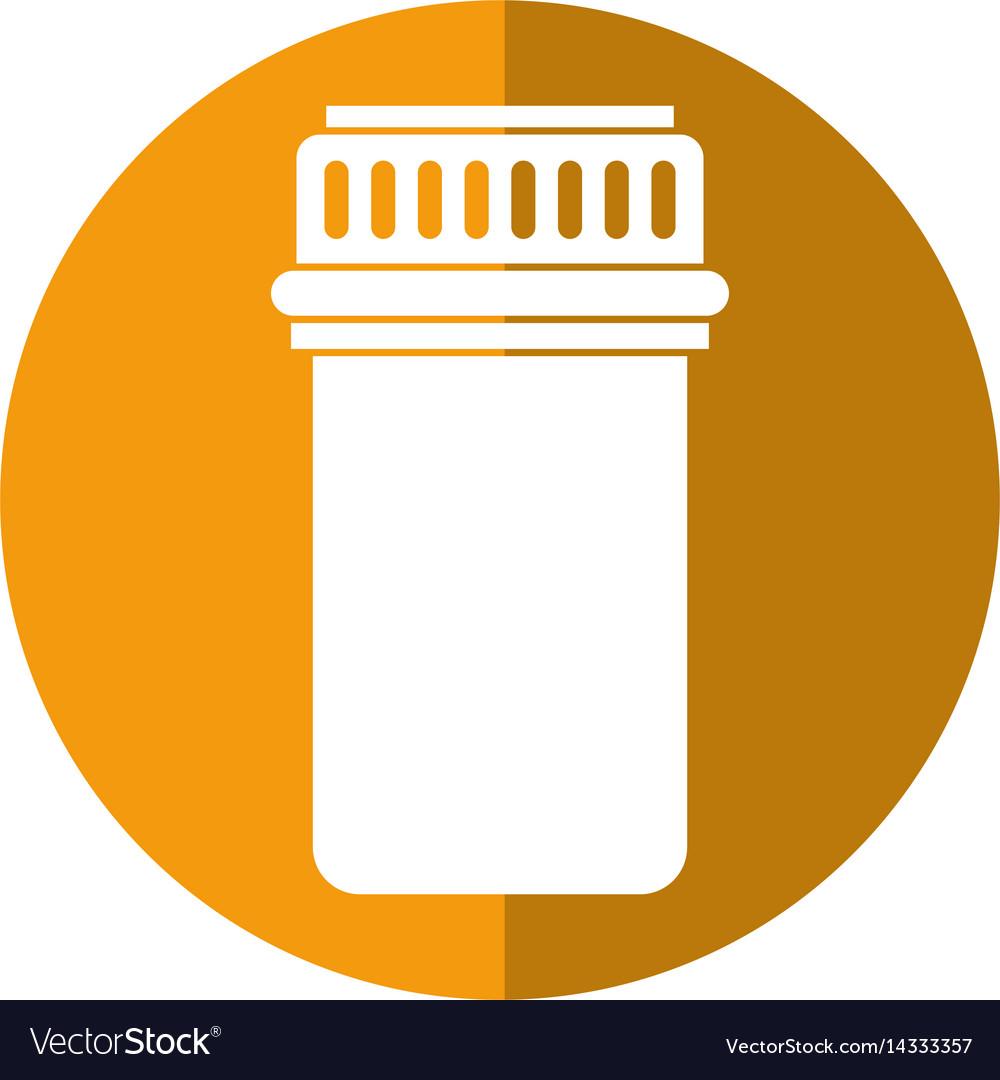 Container capsule medicine icon shadow