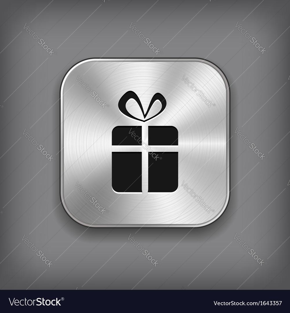 Gift icon - metal app button