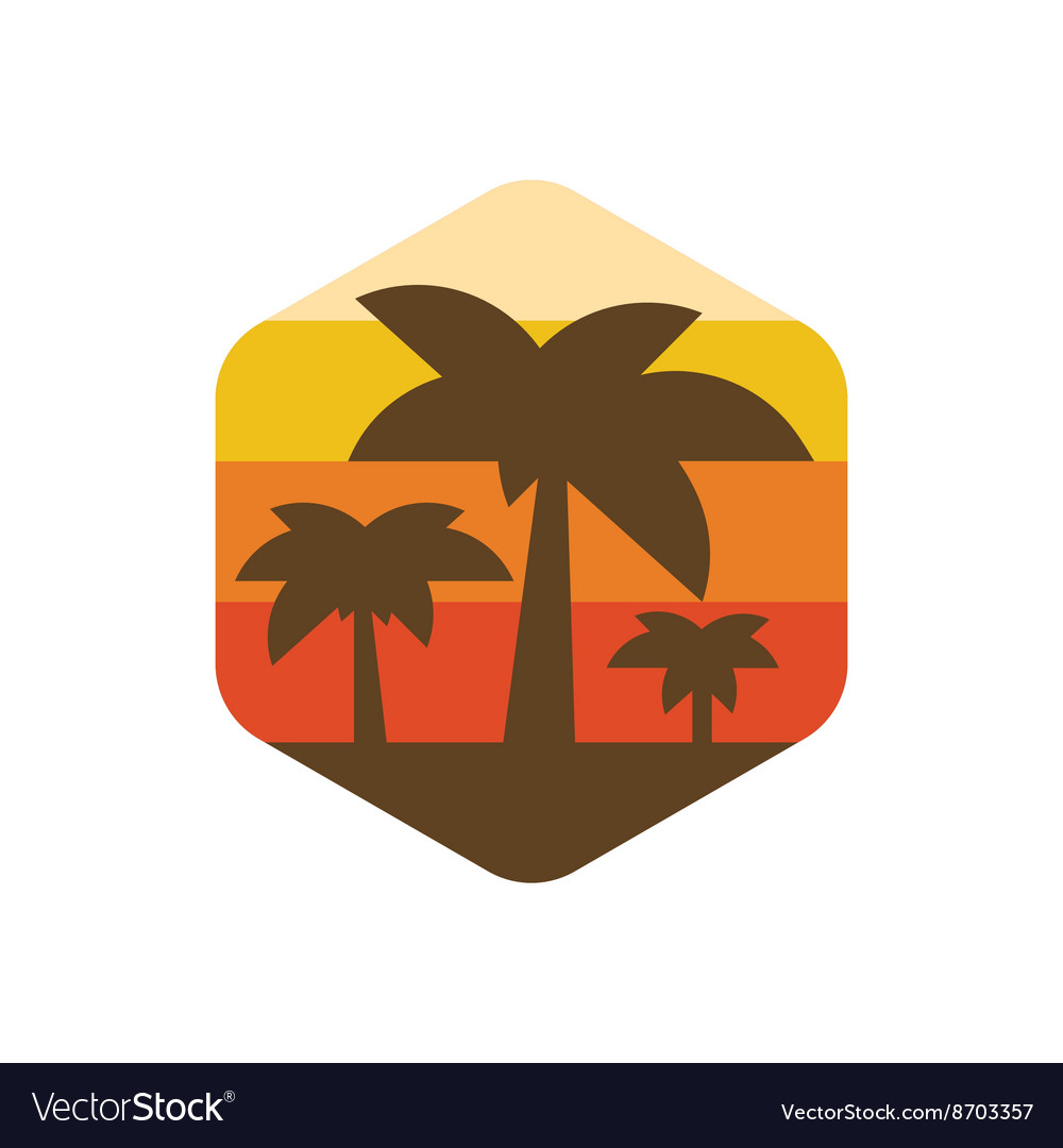 Palm trees on the island of paradise earth at