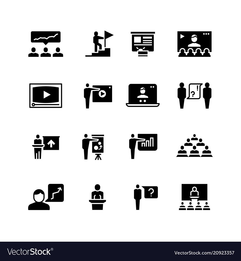 Presentation business event symbols training