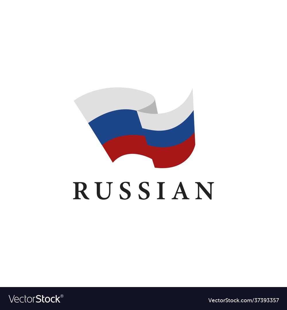 Simple flag russia on white background