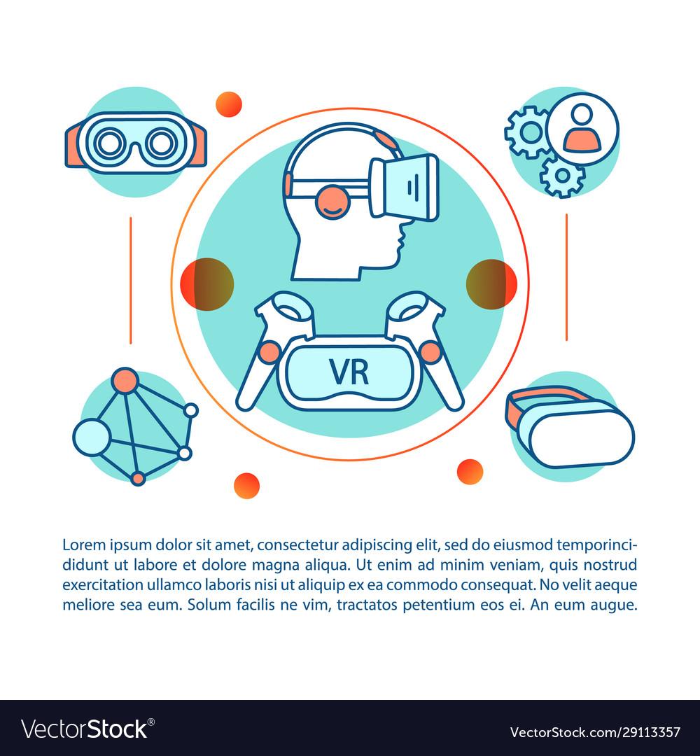 Vr concept linear virtual reality environment