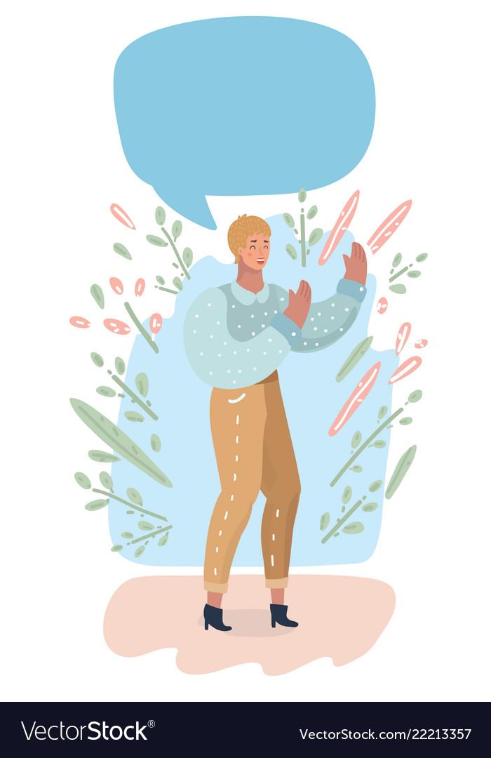 Women and speech bubbles