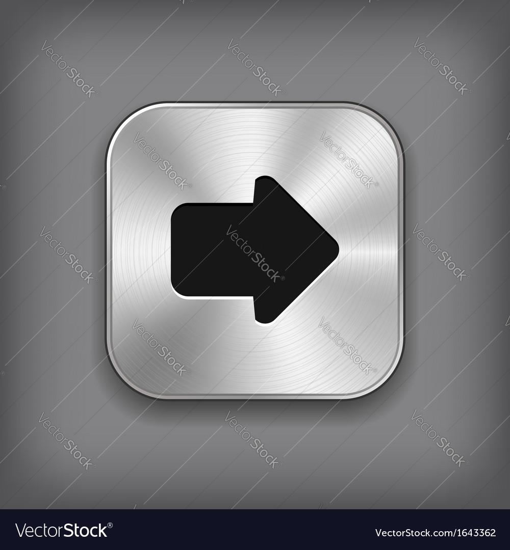 Arrow icon - metal app button