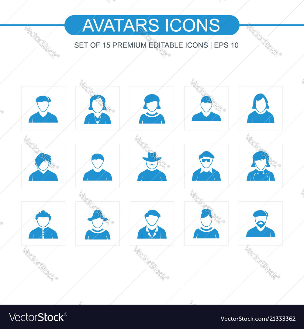 Avatar icons set