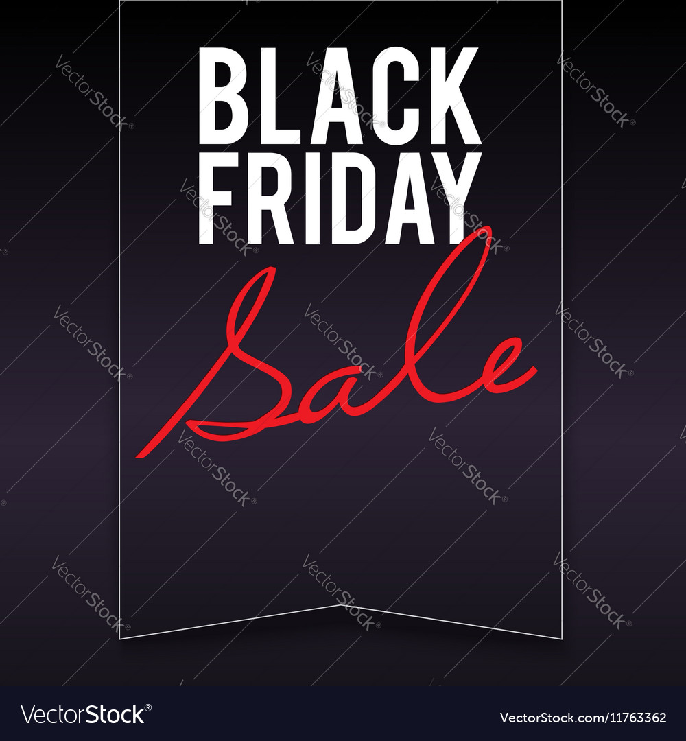 Black Friday sale banner with pennant