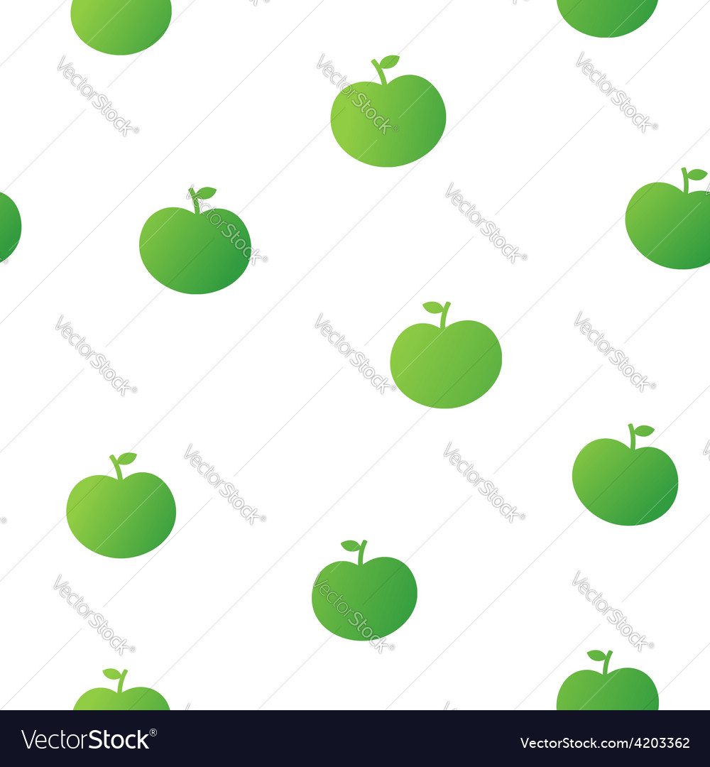 Cute seamless pattern of green apples