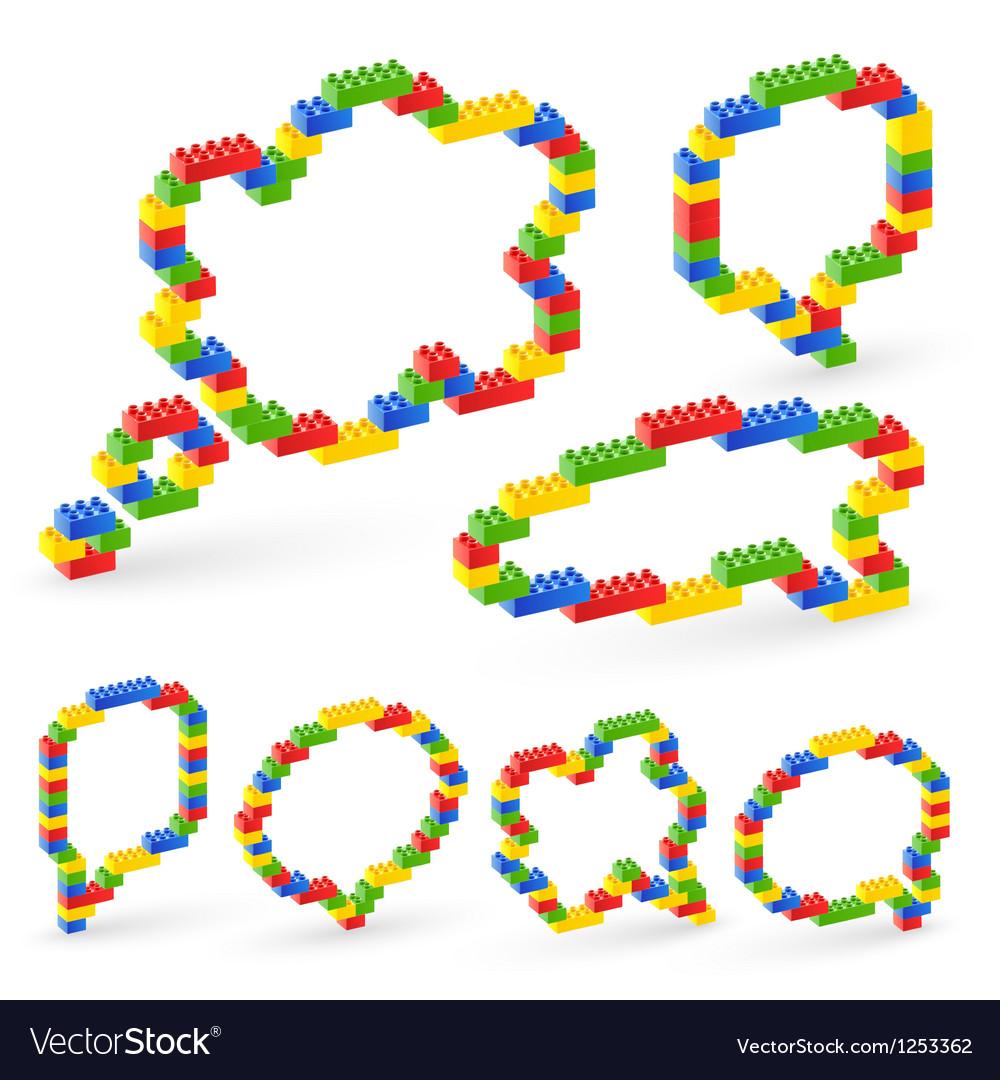 Lego bubble vector image