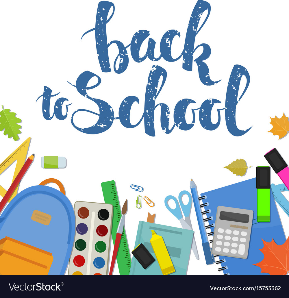 Set of items for education vector image