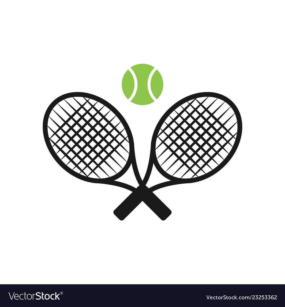 Tennis Sport Graphic Design Inspiration Royalty Free Vector