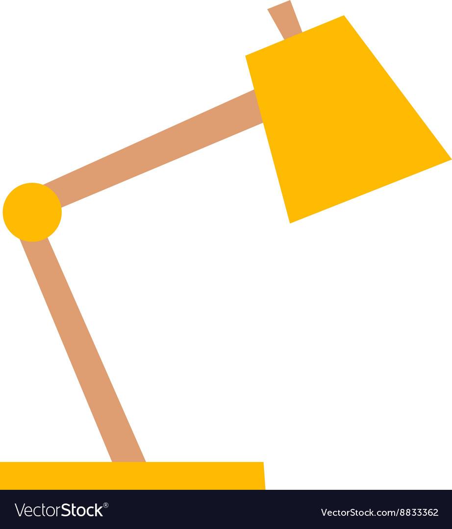 Yellow desk lamp vector image