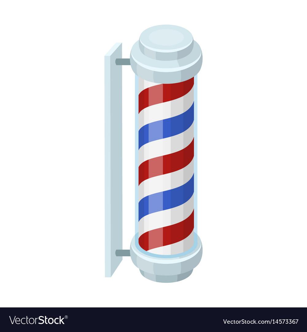 Barber logobarbershop single icon in cartoon