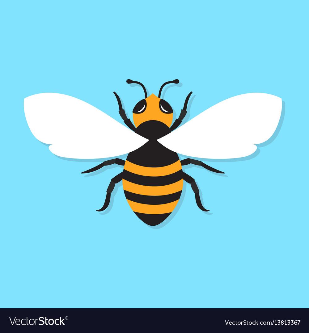 Bee icon flat