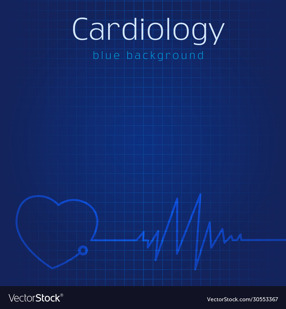 Cardiology blue background