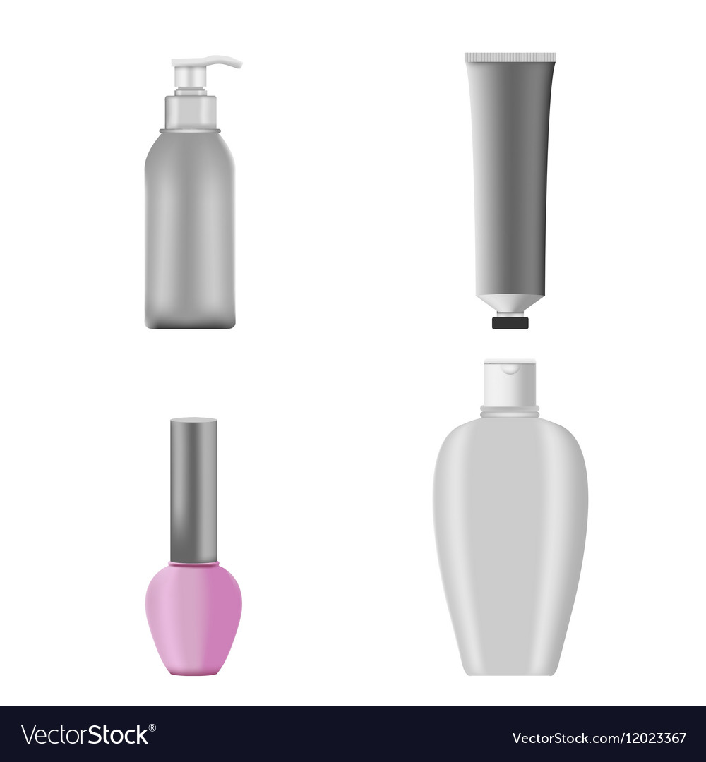 Cosmetic Mockup Products Package Set