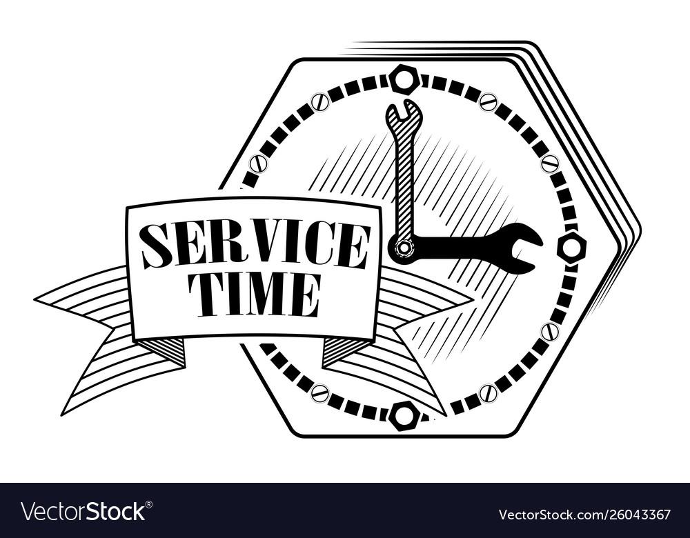 Emblem or logo for car service or repair cars