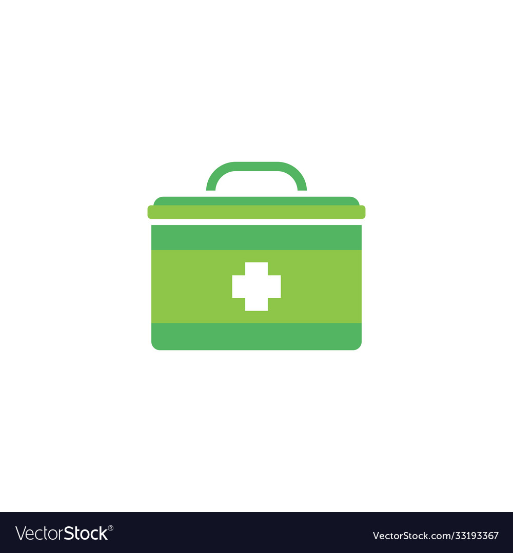 First aid kit icon design template isolated