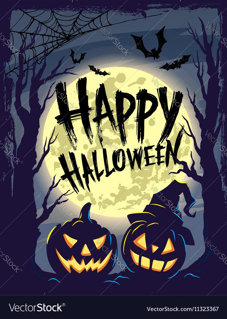 Happy halloween with symbols