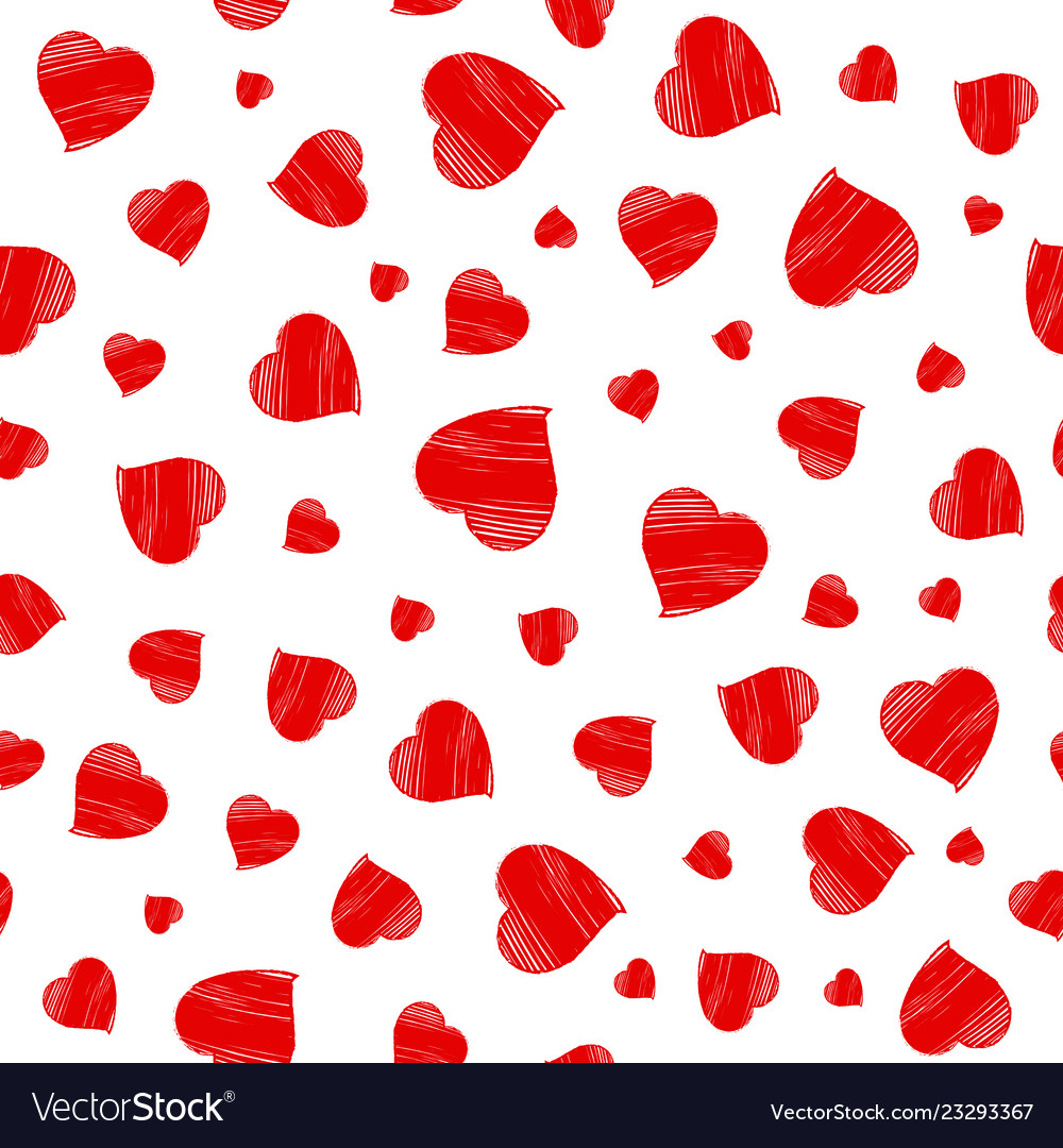 Hearts seamless pattern happy valentines day