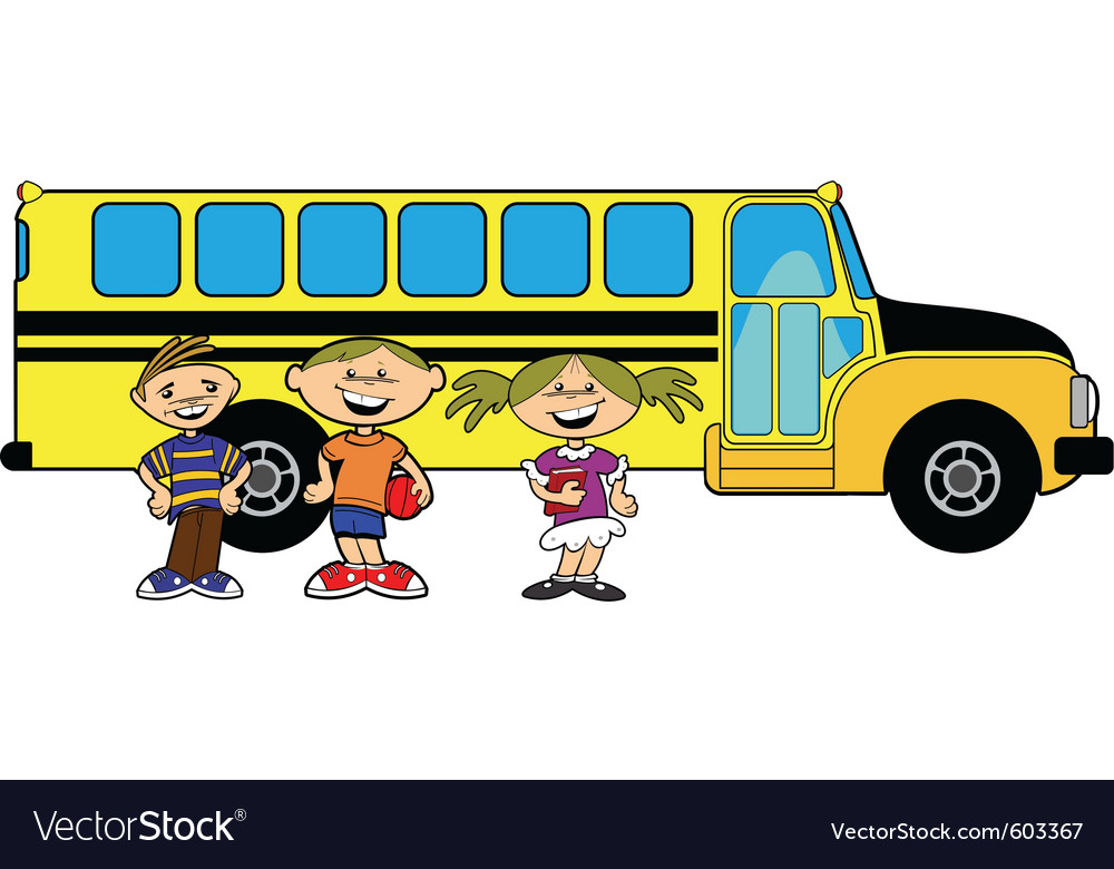 Kids bus vector image